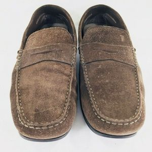 Tod's Brown Suede Driving Moccasin Loafers Slip-on
